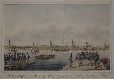 Rückkehr Der Mitglieder Der Hanseatischen Legion - Orig. Suhr Lithographie 1835 Verbraucher Zuerst