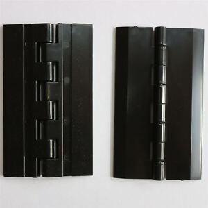 2-x-Acryl-Scharnier-75mm-x-45mm-SCHWARZ-Klavier-Scharnier-Scharniere-Angel
