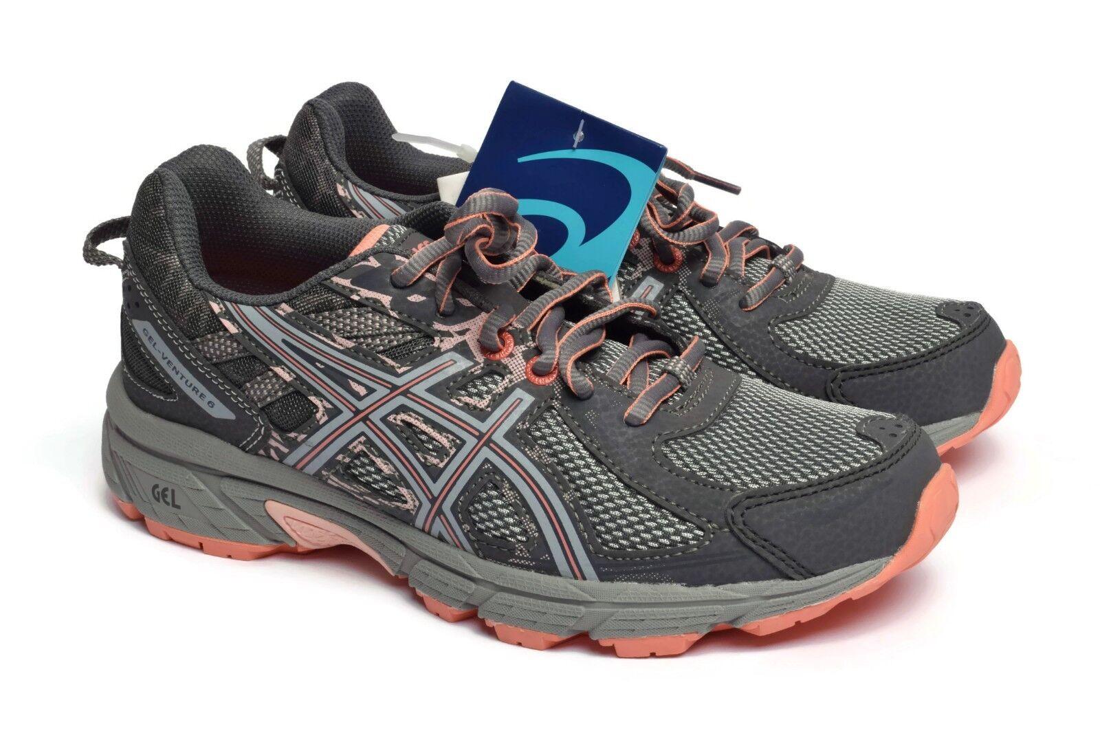 ASICS Womens Gel-Venture 6 Mid Grey Seashell Pink Athletic Running Sneaker shoes