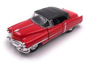 Coche-modelo-Cadillac-Eldorado-Oldtimer-rojo-auto-escala-1-34-39-con-licencia-oficial