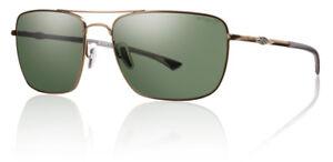 0493fa29866 Image is loading Smith-Optics-Nomad-Sunglasses-Matte-Gold-Frame-Polarized-