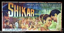 6- Sheet Shikar { Dharmendra} Hindi Original Movie Poster Billboard 1960s