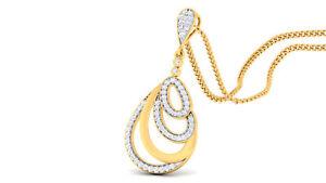 0-60-Cts-Round-Brilliant-Cut-Natural-Diamonds-Pendant-In-Solid-Hallmark-14K-Gold