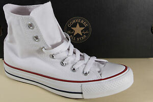 Converse ALL STAR Stivali Stivaletto stringato Weiss tessile/lino m7650 NUOVO
