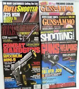 Lot-of-7-Guns-amp-amp-Weapons-Guns-amp-Ammo-Shooting-Times-Combat-Handguns-Magazines