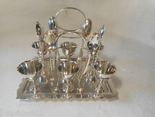 Silver Plate Egg & Spoon Cruet Set  ref 2920