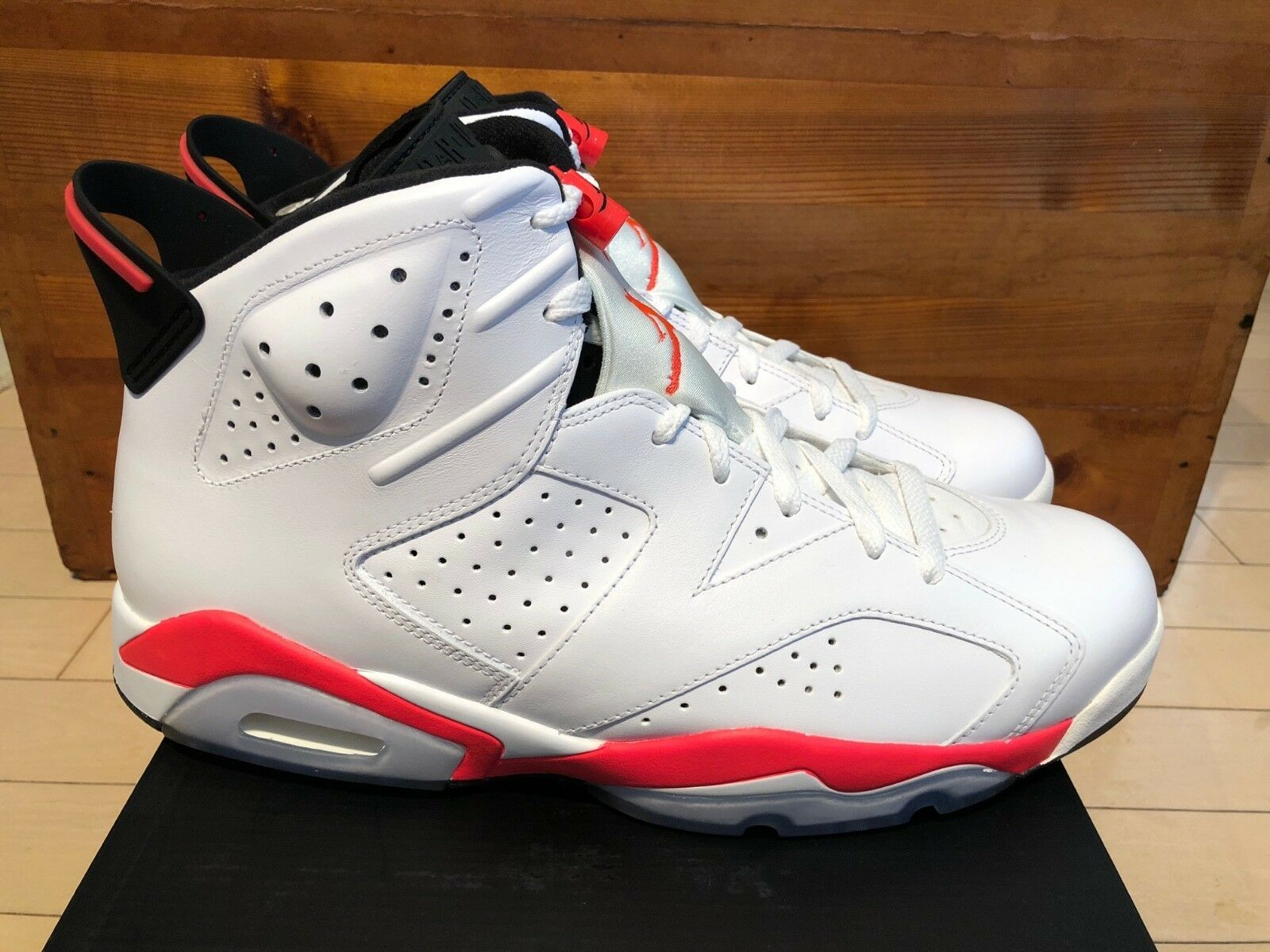2018 Nike Air Jordan VI 6 Retro Infrared White size 13