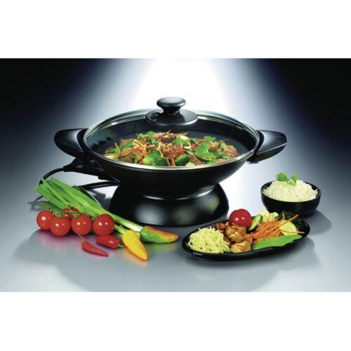 Gastroback 42509  Design Wok 2.200 Watt Glasdeckel mit Dampfventil Gusseisen