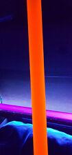 2 Od Diameter 1 34 Id 18 Clear Orange Fluorescent Acrylic Plexiglass Tube