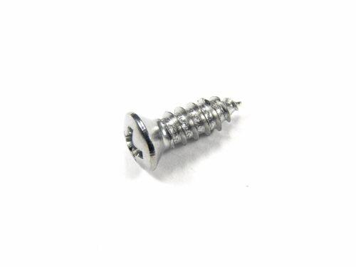 "#6 Head #278 Ford Chrome #8 x 1//2/"" Phillips Oval Head Trim Screws Qty.25"