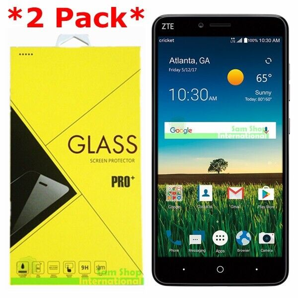 timeless design 2b2cf d57ad 2-pack Premium Tempered Glass Screen Protector for ZTE Blade X Max Z983  Cricket
