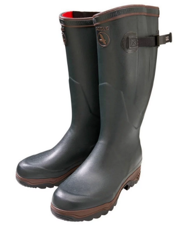 Aigle Parcours 2 Iso Wellington Boots (Green) Official UK Stockist
