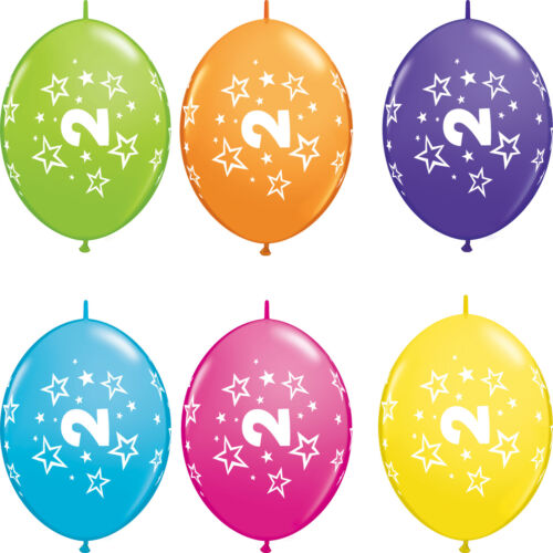2 ans-Joyeux 2nd Anniversaire Qualatex Ballons {Hélium Fête Ballons Garçon//Fille}