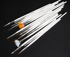 Set of 15 tiny paint brush for model war hammer figurine art nail fine craft