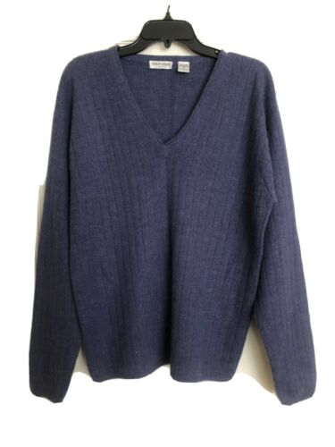GIORGIO ARMANI Navy Blue Alpaca Sweater Sz M