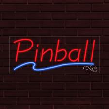 Brand New Pinball Withunderline 32x13x1 Inch Led Flex Indoor Sign 30403
