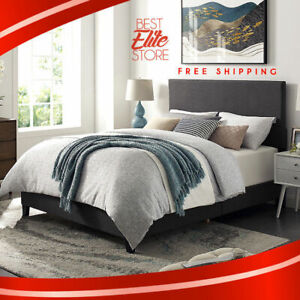 newest 7298f 8cc8d Details about Platform Bed Frame Queen With Headboard And King Full Size  Wood Heavy Duty Set