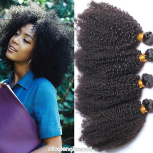 Details About 200g 4bundles Sew Kinky Curly Afro Weaves Human Hair 100 Mongolia Hair Extension