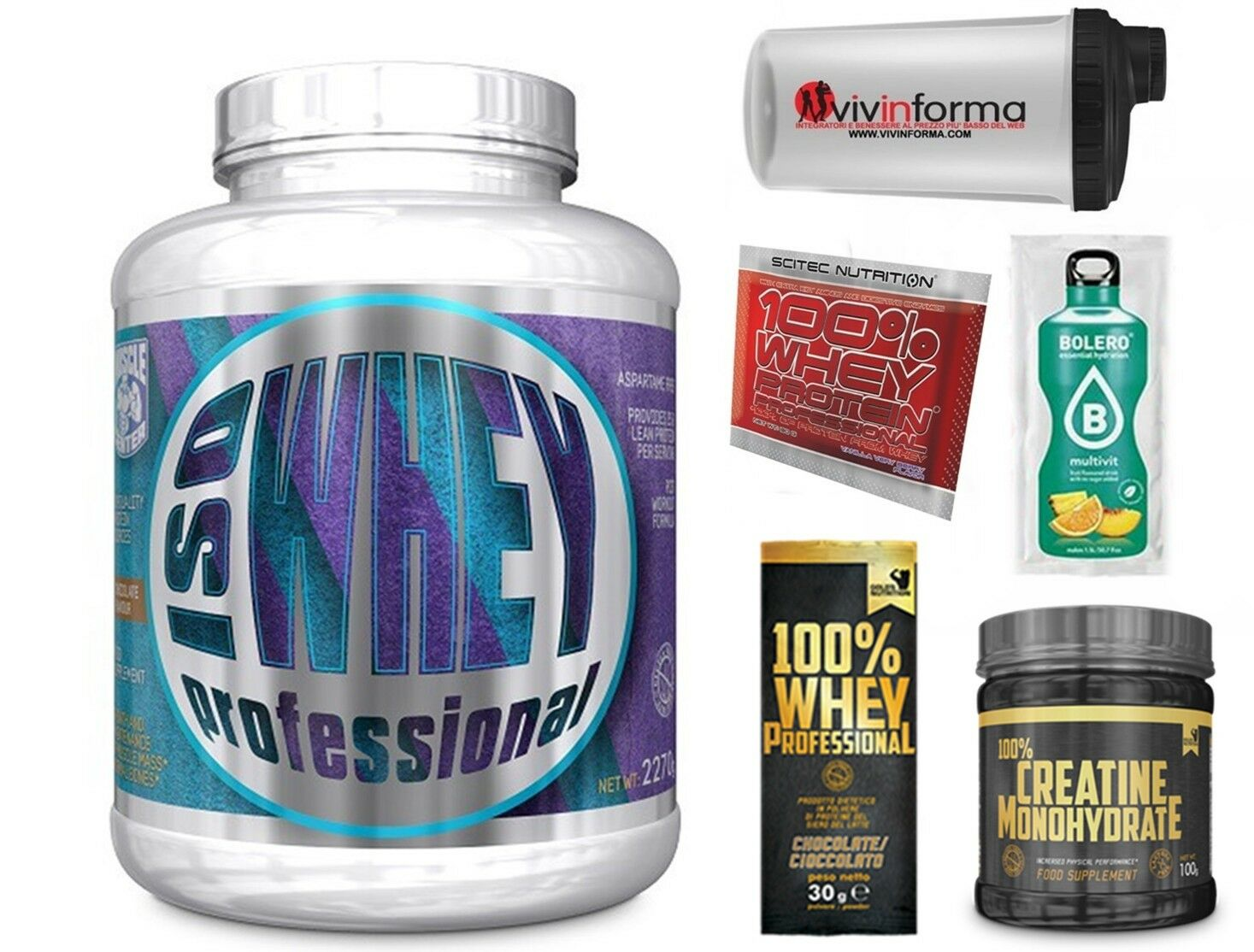 ISO Whey Protein Professional 2,2 kg Protein Serum + 100% whey scitec and creatine