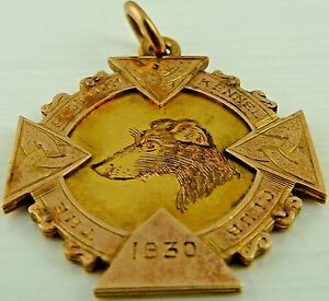 9ct-Gold-Scottish-Kennel-Club-medal-dated-1930-Marked-for-9ct-7-2-gms