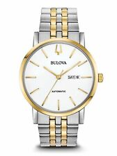 Bulova American Clipper Automatic Men's Two-Tone Calendar 42mm Watch 98C130