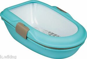 TRIXIE-Litter-tray-Berto-with-Strainer-Cat-litter-tray-NEW-COLOR-TURQUOISE