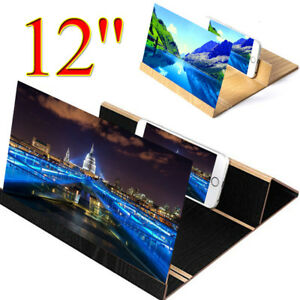 3D-12-034-Phone-Screen-Magnifier-Enlarge-Stereoscopic-Amplifier-Bracket-Wood-Stand