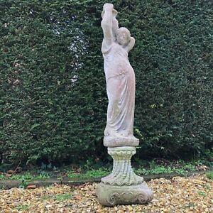 Vintage-Mediterranean-Stone-Female-Statue-with-Plinth