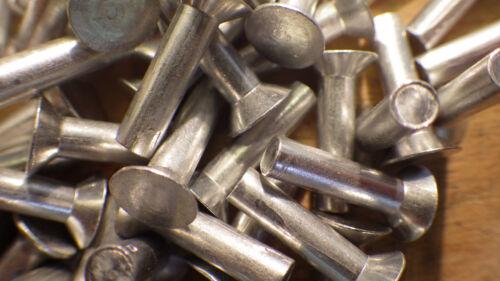 50 x  2mm x 20mm COUNTERSUNK  SOLID ALUMINIUM RIVETS 90 degree rivet fixings