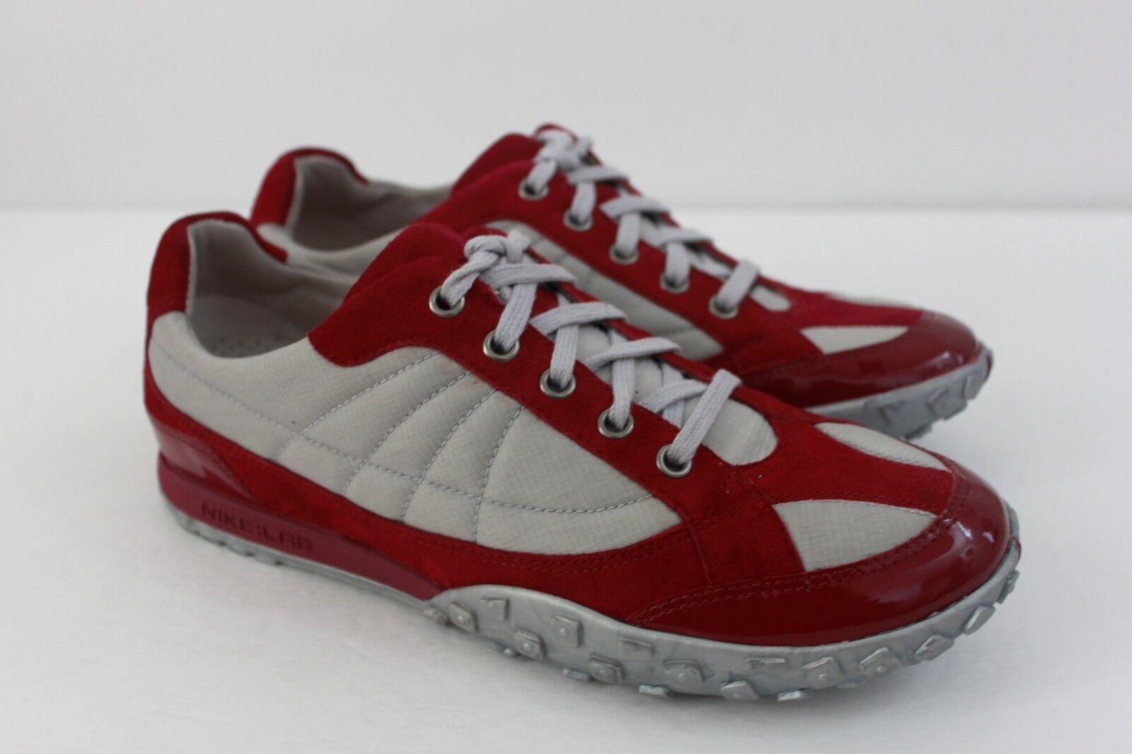 Cole Haan Damenschuhe Sneakers Schuhes Größe 7 M ROT Nylon Suede Patent Leder NIB