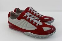 Cole Haan Women's Shoe Size 7 M Red Nylon Suede Patent Leather Sneaker