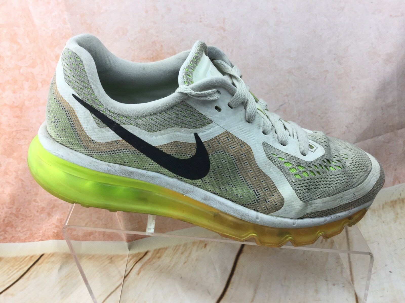 Women's Nike Air Max 2014 White Black Atomic Mango-Volt 621078-101 Price reduction Great discount