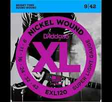 D'Addario Super Light 9-42 Nickel Wound Electric Guitar Strings (EXL120)