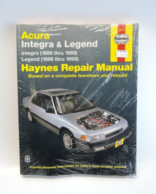 Haynes Repair Manual 12020 Acura Legend Integra 1986 1990