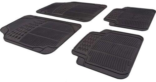Car Black Rubber Front//Rear Floor Mats Volvo S80 1998-2016