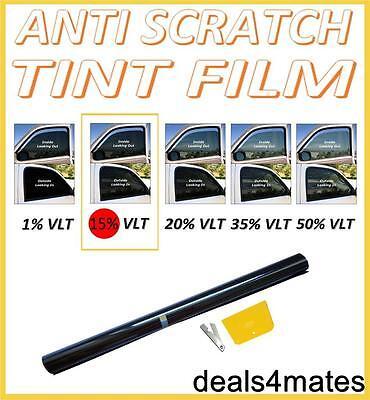 Antigraffio Professional Car Window Tint Film Fumo Scuro Nero 15% 76 Cm X 3 M-mostra Il Titolo Originale Una Vasta Selezione Di Colori E Disegni
