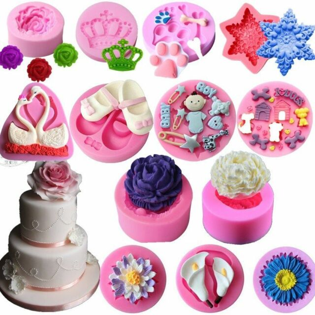 Silicone 3D Makeup Desig Fondant Cake MoldsChocolate Decorating Sugarcraft Mould