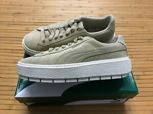 best service 06220 cdffa Details about NEW WOMENS 9 - Puma Platform Trace Safari Marshmallow Suede  Sneaker Shoes