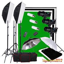 900W LED PANTALLA STUDIO FLASH KIT Iluminación Fondo Negro Blanco Verde Soporte