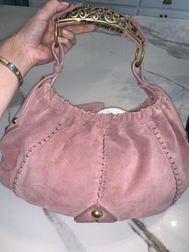 YSL Pink Suede Vintage bag