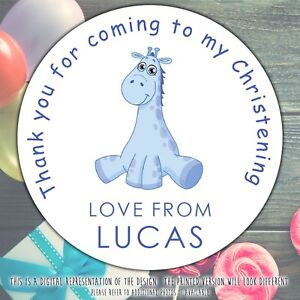 Personalised-Blue-Giraffe-Christening-Party-round-stickers-labels-party-sheet