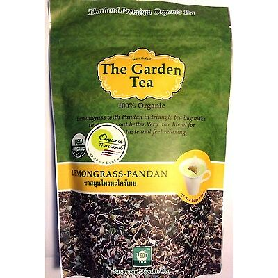 Thai Premium Certified USDA 100% Organic Pure Lemongrass-Pandan Herbal Tea