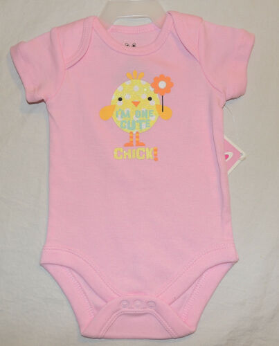 NEW Baby Girl One Cute Chick Sizes 0 thru 18 M One Piece Bodysuit First Easter