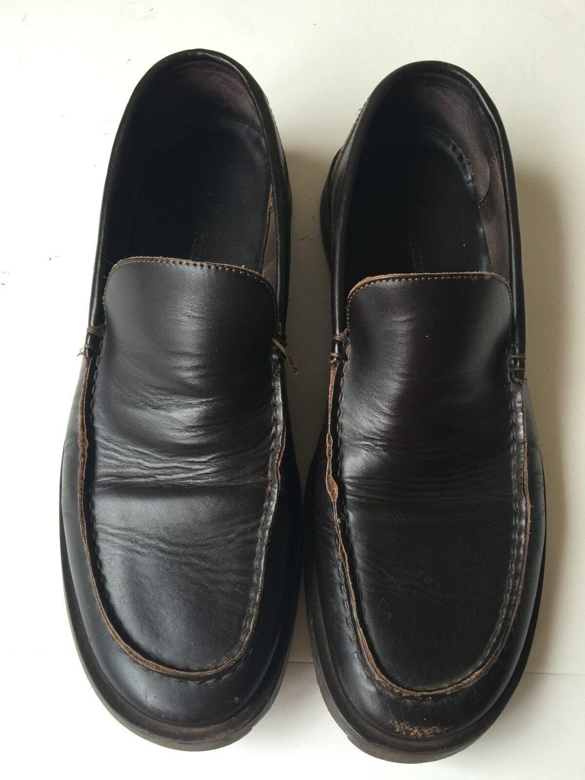 Banana Republic Mens Brown (Sz Leather Slip-On Loafer Shoes (Sz Brown 10 D) 0d57c8