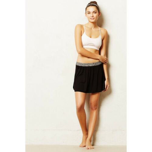 Good Tulip Track Skirt w// Short Black Run Gym MadeUSA NEW S Anthropologie Pure