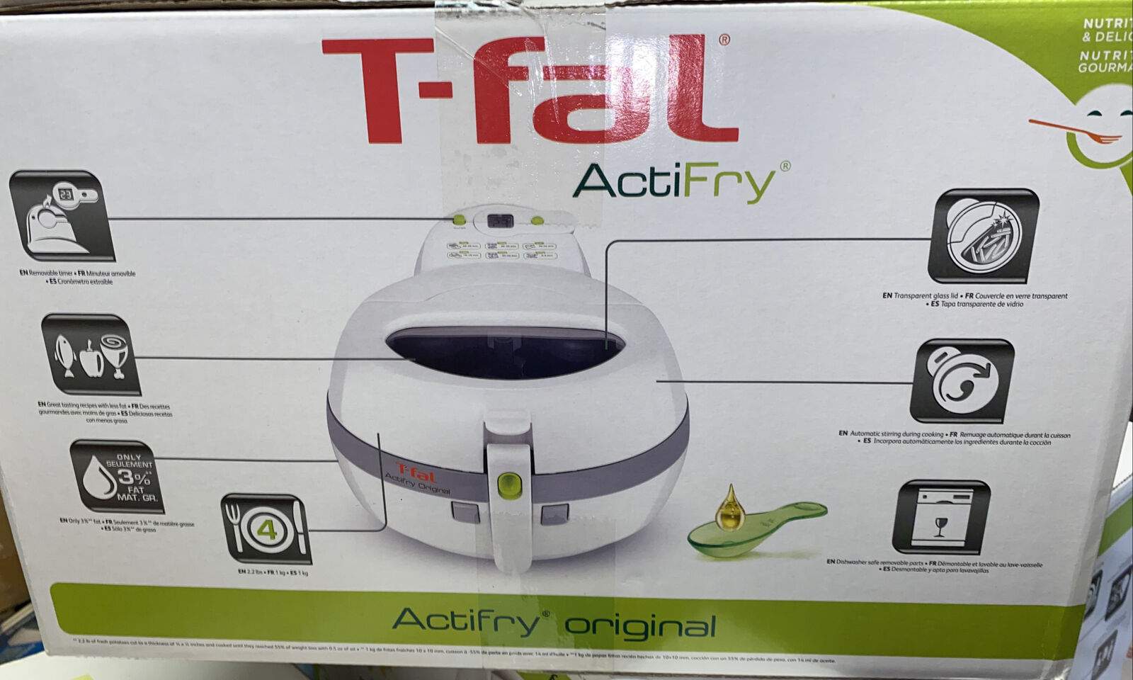 T-Fal Actifry Lowfat Air Fryer New Sealed Box