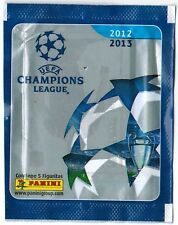 Brazil 2012 2013 Panini UEFA Champions League pack say Contiene 5 Figuritas