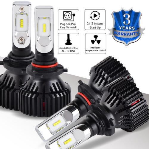 9006 LED Headlight For Jeep Grand Cherokee 1999-2007 Combo White Bulbs 4x 9005