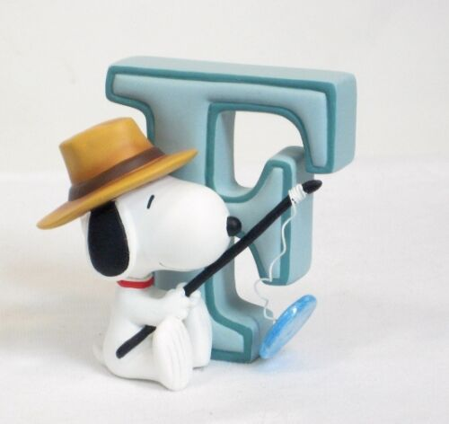Snoopy Ornament /& Wall Hang Alphabet Letter F