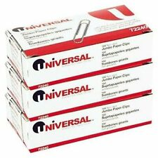 Universal Nonskid Paper Clips Wire Jumbo Silver 100 Ct 3 Pk